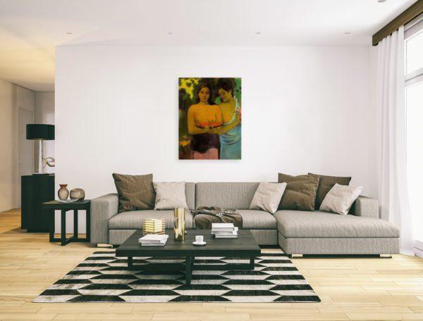 Wild woman inModern minimalistic living room