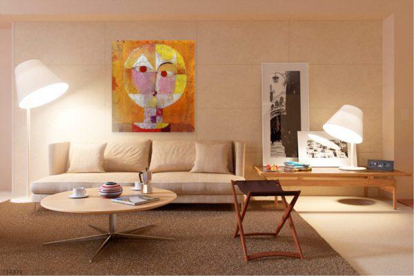 Photo of Senecio painting in modern sitting room