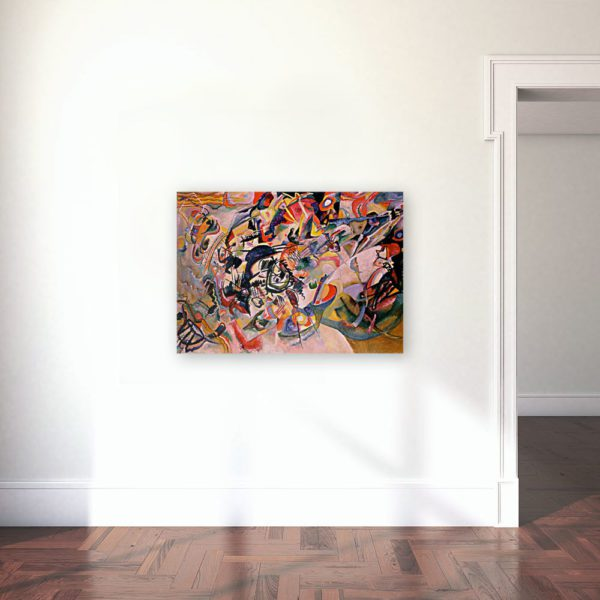 Photo of Composition VII painting in gallery