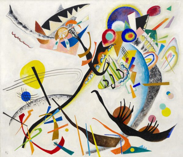 Print Of Blue Segment by Wassily Kandinsky