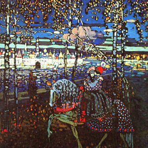 Couple Riding by Wassily Kandinsky Print