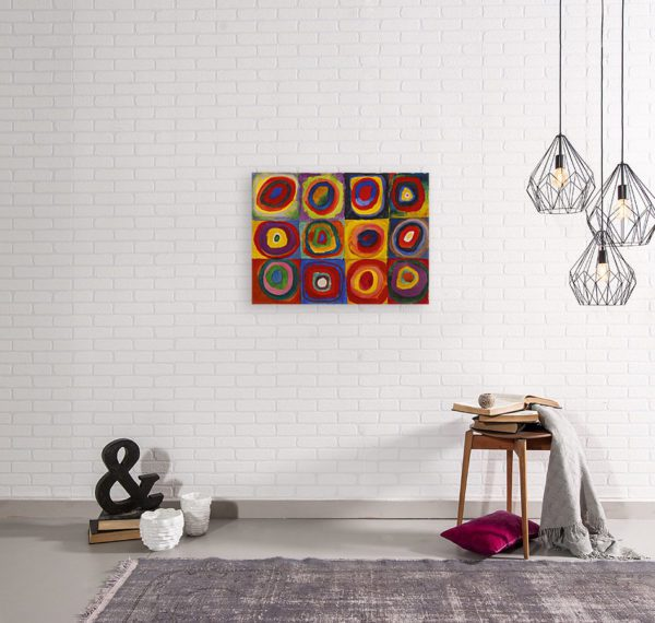 Photo of Color Study Squares in simple living room