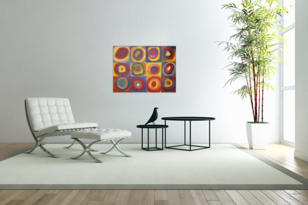 Photo of Color Study Squares with Concentric Circles Print - Wassily Kandinsky