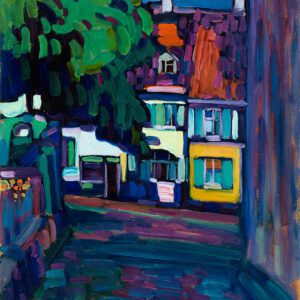 Houses in Murnau on Obermarkt by Wassily Kandinsky