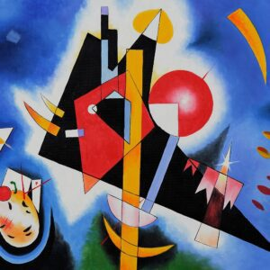 In Blue by Wassily Kandinsky Canvas Print