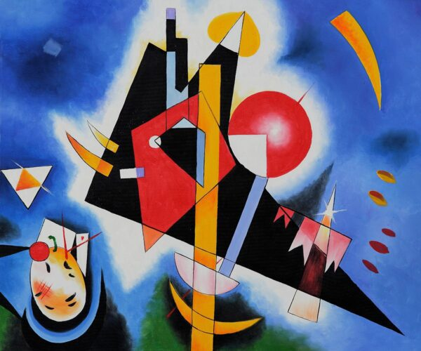 Photo of In Blue by Wassily Kandinsky Canvas Print