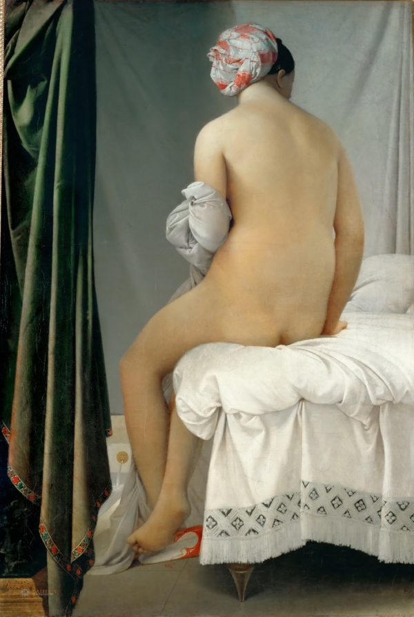 Bathing woman painting canvas print No Title