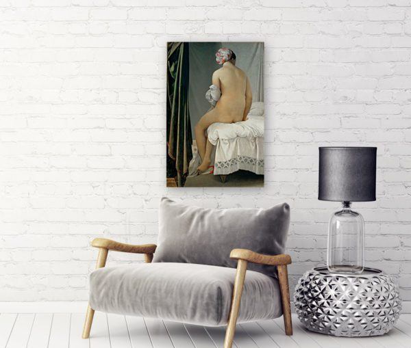 Bathing woman painting canvas print 3