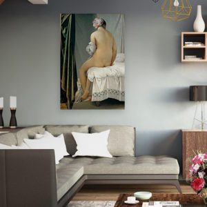 Bathing woman painting canvas print 4