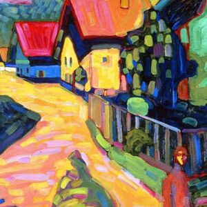 Canvas Print Murnau Street With Women by Wassily Kandinsky