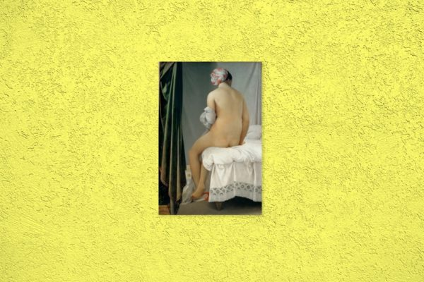Bathing woman painting canvas print 2