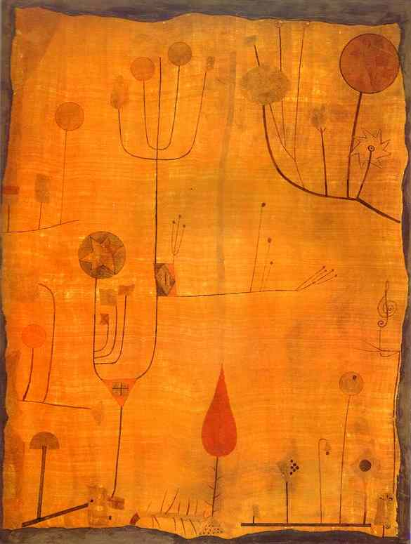 Paul Klee Fruits on Red