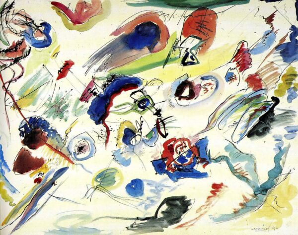 Untitled (First Abstract Watercolor) by Wassily Kandinsky Print