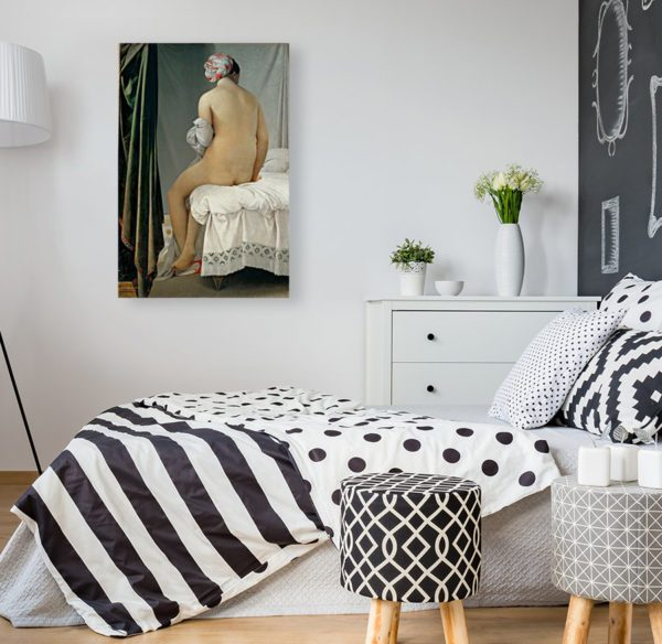 Bathing woman painting canvas print