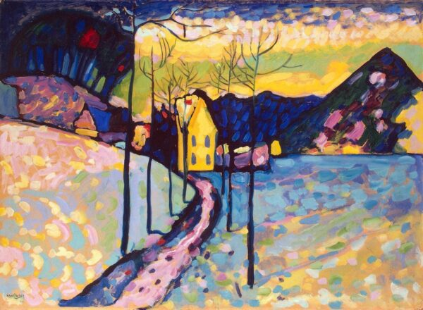Photo of Canvas print Winter Landscape by Wassily Kandinsky