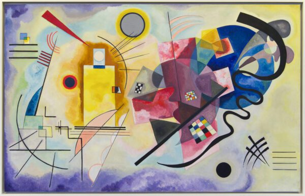 Photo of Yellow-Red-Blue by Wassily Kandinsky print