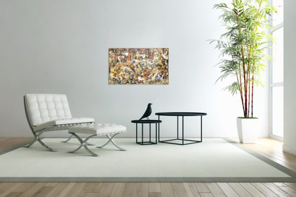 Photo of Convergence painting in modern sofa
