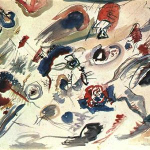 First abstract watercolor by Wassily Kandinsky