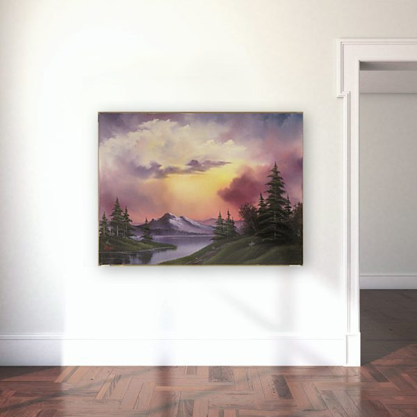 Photo of Sunset a glow painting in gallery