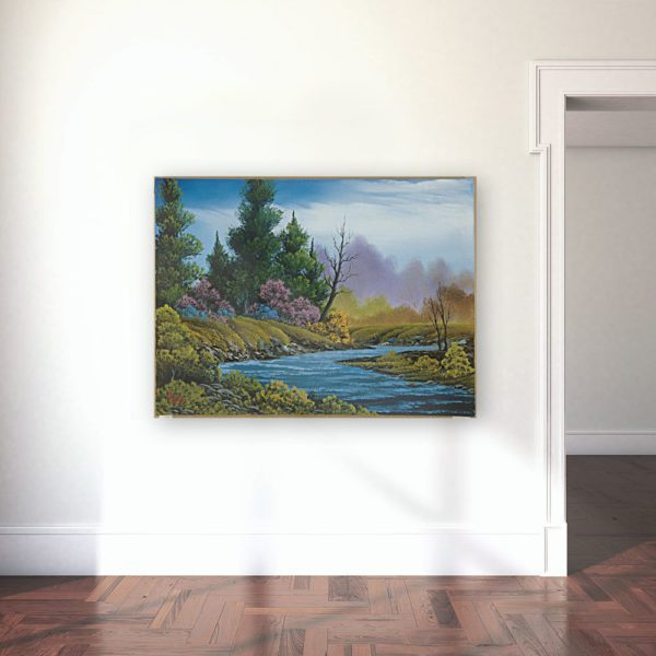 Photo of Trace of spring painting in gallery