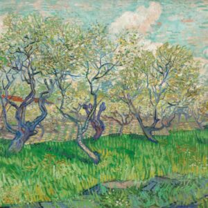 Orchard With Blossoming Plum Trees By Vincent van Gogh