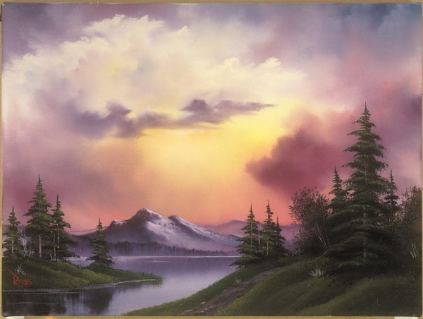 Photo of Clouds over Mountains painting