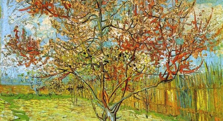 Photo of The Pink Peach Tree painting