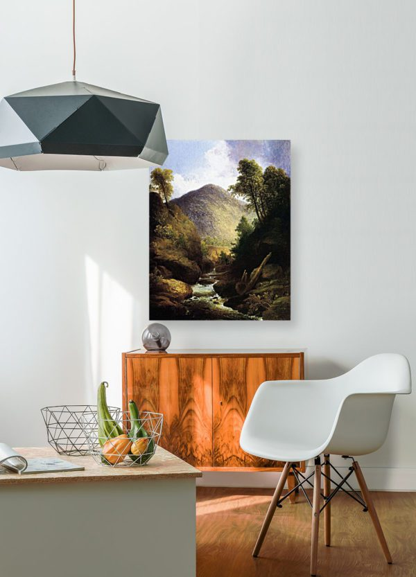 Photo of At the Waterfall Painting in modern living room