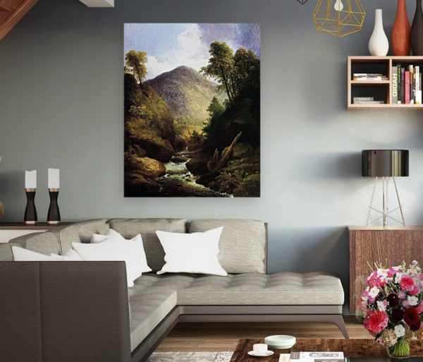 Photo of At the Waterfall Painting in beautiful living room