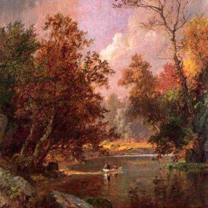 Photo of Autumn River Landscape painting