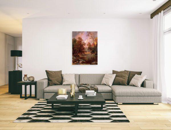 Photo of Autumn River Landscape in elegant living room