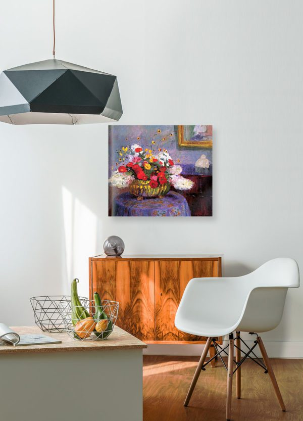 Photo of Bernhard Gutmann Still Life, Round Bowl With Flowers painting