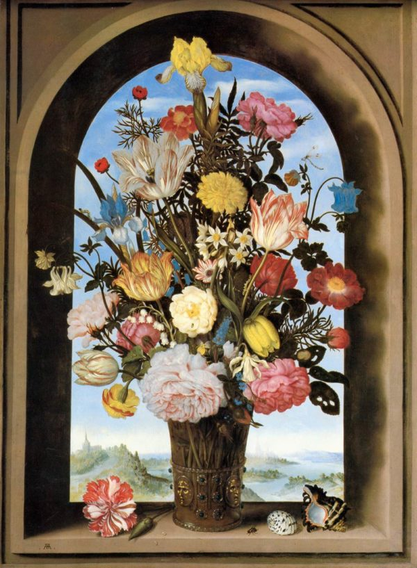 Vladimir Borovikovsky Bouquet in an Arched Window Main