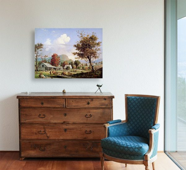 Photo of Cider Pressing painting in living room