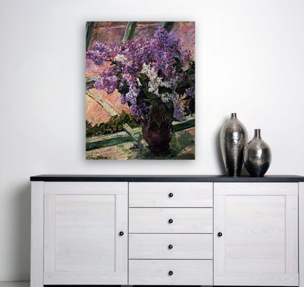 Photo of Lilacs in a Window Impressionism in simplistic living room