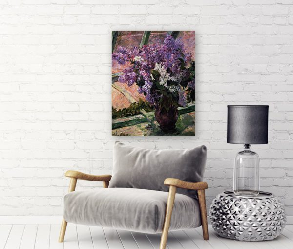 Photo of Lilacs in a Window Impressionism by Sofa