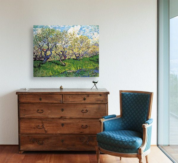 Photo of Plum Trees painting in Orchard