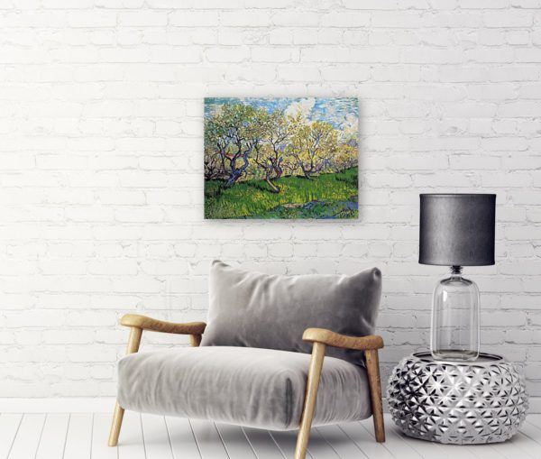 Photo of Orchard in Blossom painting in sofa lounge
