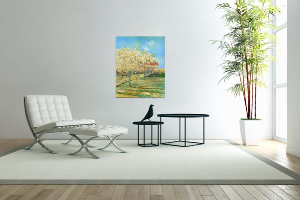 Photo of Orchard in Blossom painting in sitting room