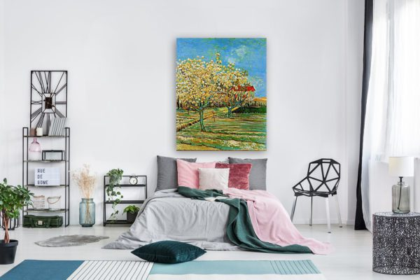 Photo of Orchard in Blossom in modern bedroom