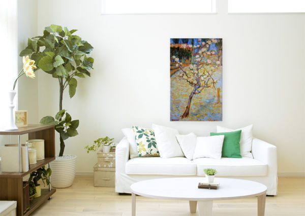 Photo of Spring Landscape painting in modern sofa lounge