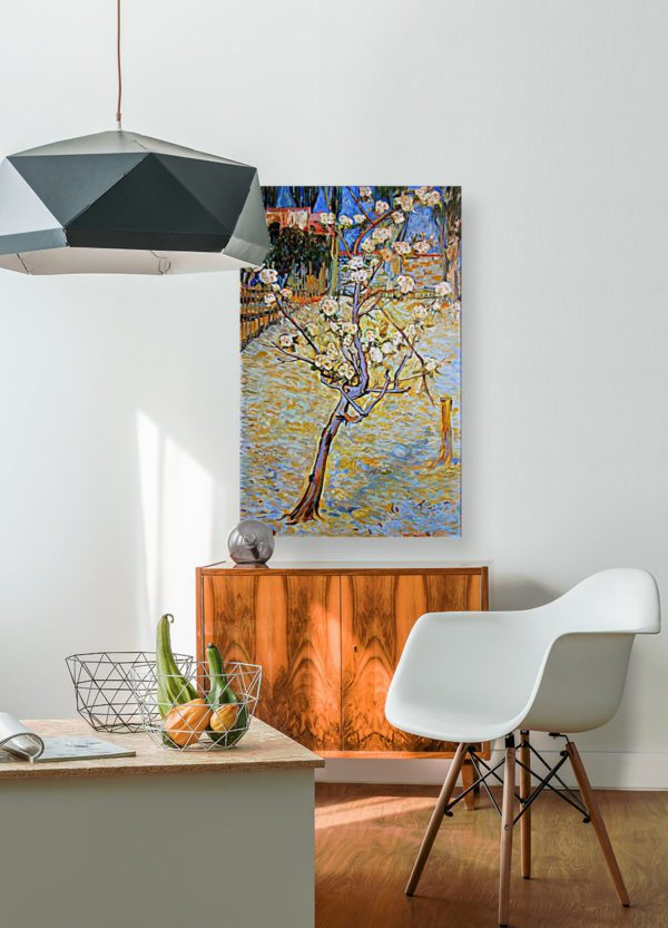 Photo of Spring Landscape painting in kitchen