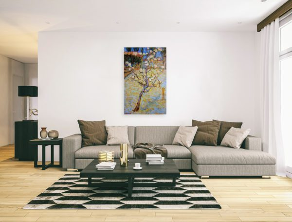 Photo of Spring Landscape painting in modern living room
