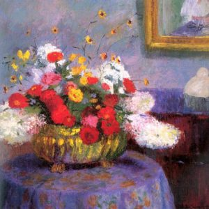 Photo of Round Bowl With Flowers painting