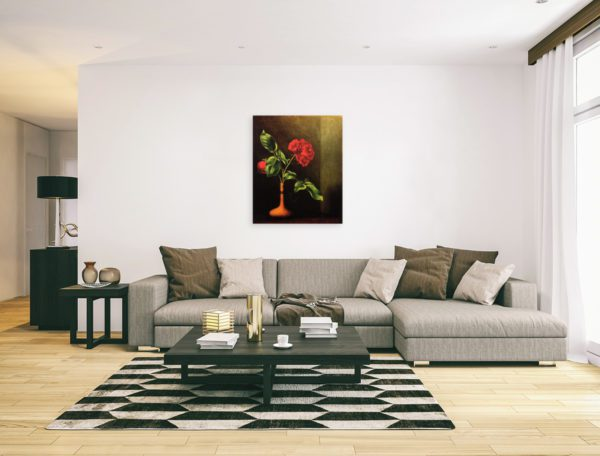 Awesome Rose still life painting red 5