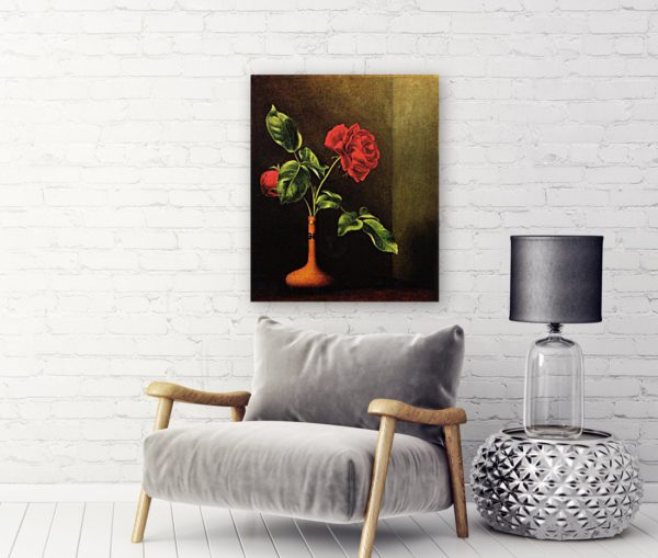 Awesome Rose still life painting red 4