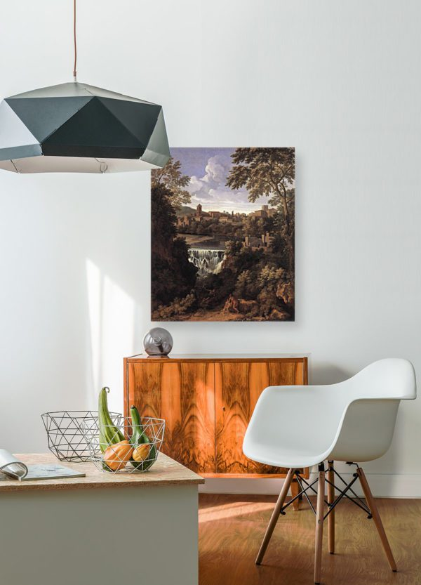 Photo of The Falls of Tivoli Painting in modern living room