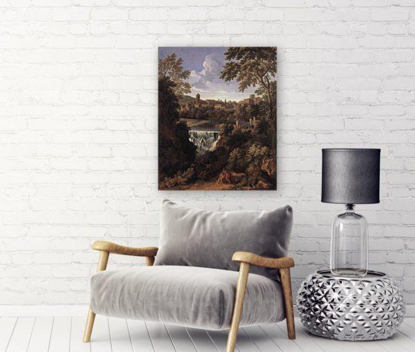 Photo of The Falls of Tivoli Painting near sofa