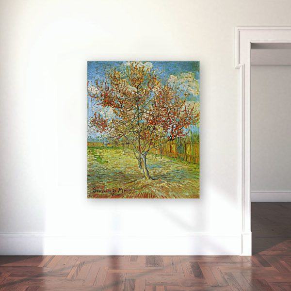 Photo of The Pink Peach Tree painting in Gallery
