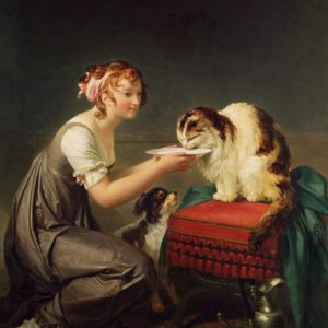 The Cat's Lunch by Marguerite Gerard